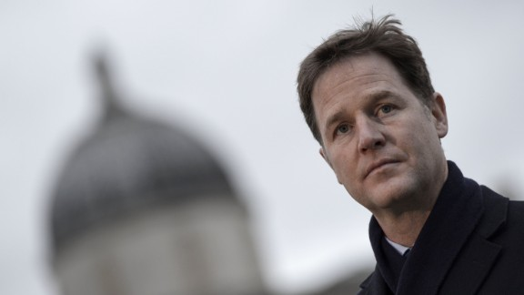 Nick Clegg is the current British deputy prime minister and the leader of the Liberal Democrats.