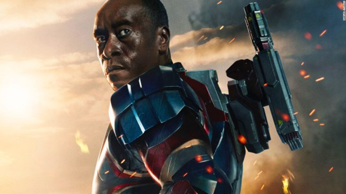 "Don Cheadle makes his first ""Avengers"" appearance as War Machine."
