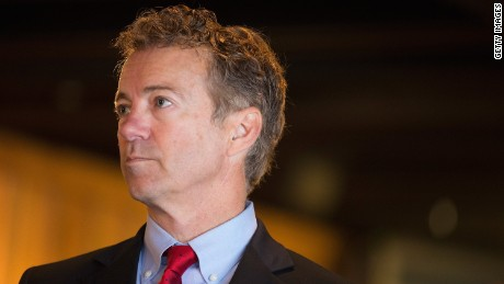 ATKINS, IA - APRIL 25: Senator Rand Paul (R-KY) speaks to guests at a campaign event at Bloomsbury Farm on April 25, 2015 in Atkins, Iowa. Paul is seeking the 2016 Republican presidential nomination.