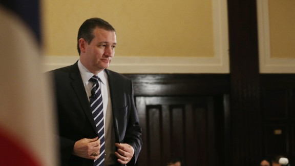 Sen. Ted Cruz walks up to speak at a U.S. Hispanic Chamber of Commerce discussion April 29, 2015, in Washington, D.C.
