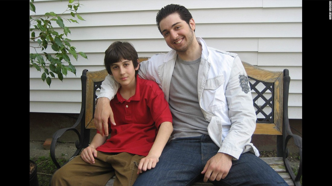 This undated photo of a young Tsarnaev with his brother, Tamerlan, was shown by the defense in the sentencing phase of the trial. Tamerlan died after being shot by police and run over by a car driven by his brother in the massive manhunt that followed the bombings.