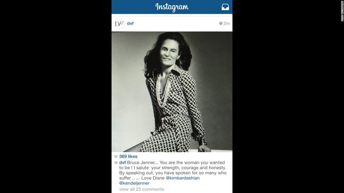 Diane von Furstenberg's Bruce Jenner post panned - CNN Daily News Bruce Jenner In A Dress Photos
