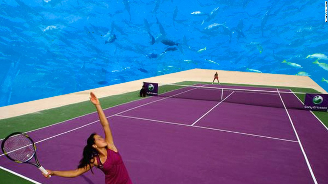 "Serving up underwater tennis does not come cheap. Krzysztof, <a href=""http://www.sportskeeda.com/tennis/underwater-tennis-stadium-could-be-a-reality-dubai"" target=""_blank"">who is reportedly seeking investors to set up the project off the coast of Dubai</a>, estimates the court will cost between $1.7-2.5 billion to build."