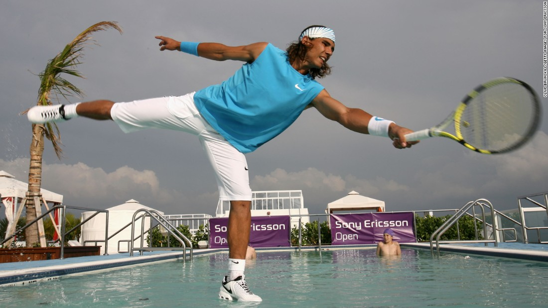 Rafael Nadal and Serena Williams have already dabbled in water tennis, playing on a court constructed in the middle of a swimming pool at the Hotel Gansevoort in Miami South Beach, Florida.