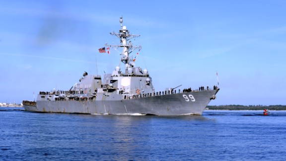 The guided-missile destroyer USS Farragut.