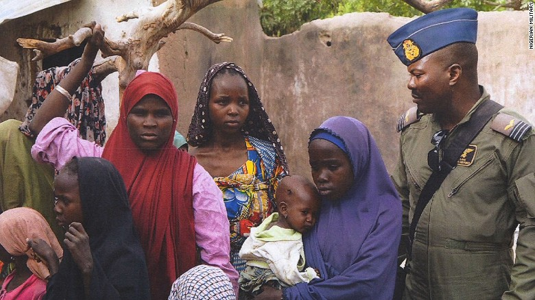Photos released of women freed from Boko Haram