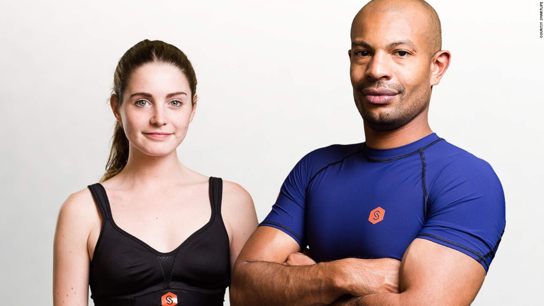 The burgeoning market for intelligent clothing has led to a range of wearables that monitor your health. Pictured, a t-shirt and bra by SmartLife.