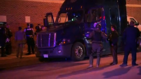 Baltimore police find a body inside semi-truck's cab