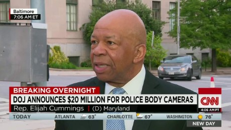 Rep. Cummings supports DOJ funds for body cameras