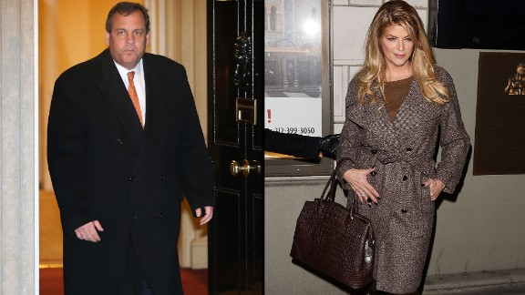 Kirstie Alley (right) is not David Wildstein, the ally of New Jersey Gov. Chris Christie (Christie is shown on the left).