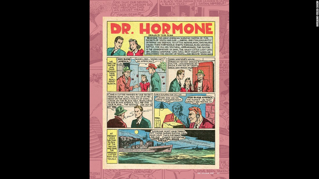 "Vitality, courtesy of a hormone treatment, gave Doctor Hormone a boost. His was a short-lived superhero career after his debut in ""Popular Comics #54"" (Dell Comics, August 1940)."