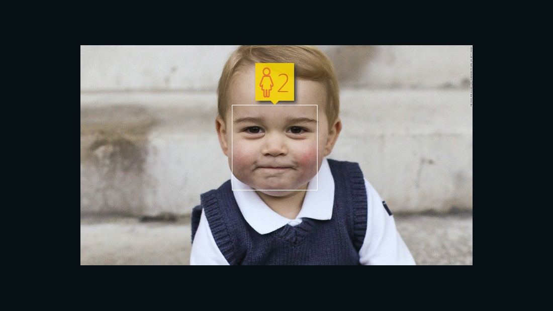 Microsoft pegs Prince George at 2. Not bad -- he celebrates his second birthday in July -- but they got the future king's gender wrong.