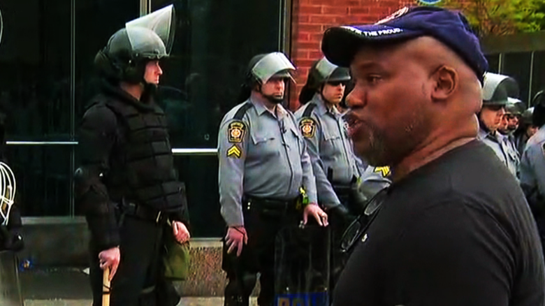 Hear emotional reactions in streets of Baltimore