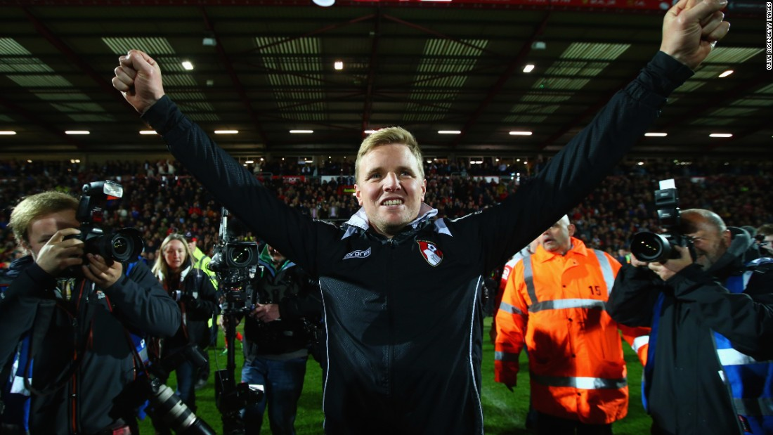 Eddie Howe, the Bournemouth manager, led the club to promotion after six years in the job. During his two spells at the club, he guided the club from the bottom division to England's top-flight.