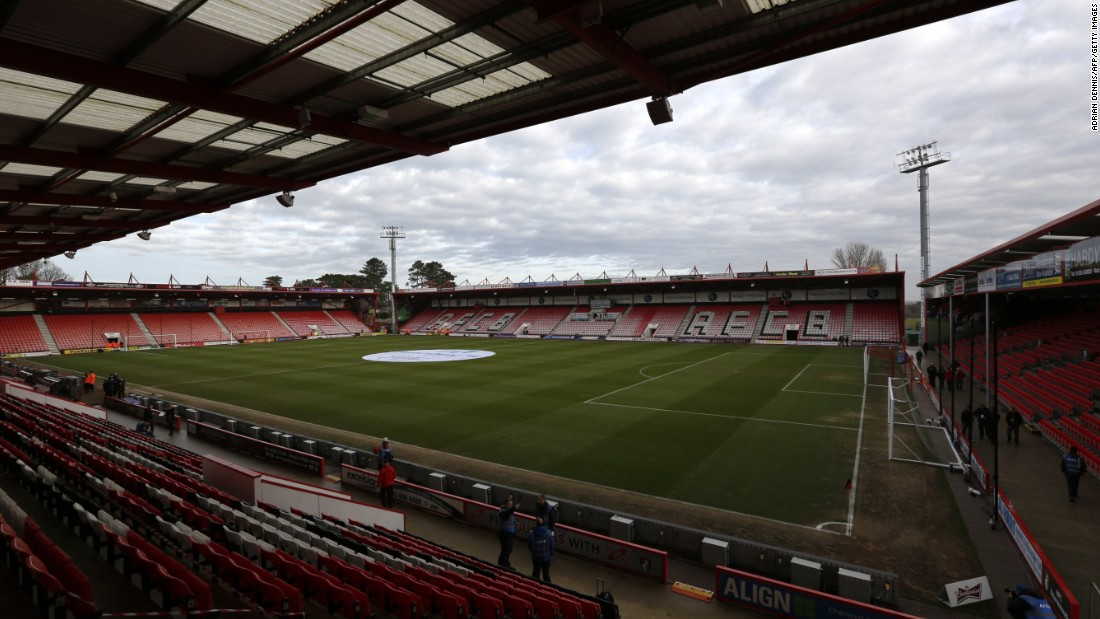 Bournemouth's stadium holds a maximum of 11,700 more than six times smaller than Old Trafford, home of Manchester United. It's the smallest ground in Premier League history.