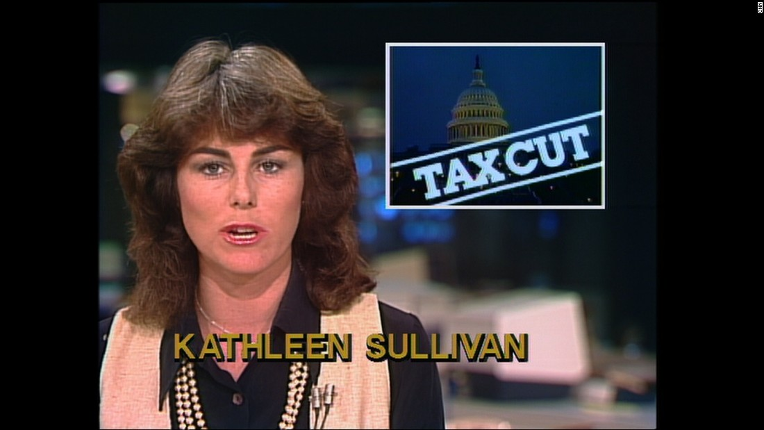 Kathleen Sullivan anchors a 1981 broadcast. The graphics were rather basic compared to what you see today.