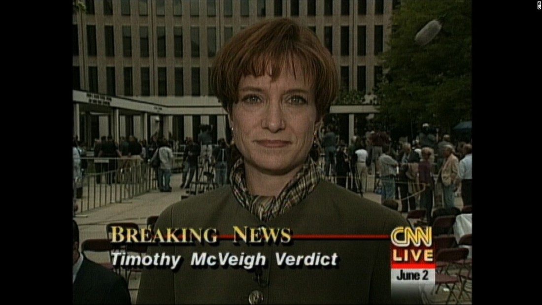 Susan Candiotti reports on June 2, 1997, as the world awaited the verdict in the case against Oklahoma City bomber Timothy McVeigh. Candiotti joined CNN in 1994 and most recently covered the trial of Aaron Hernandez.