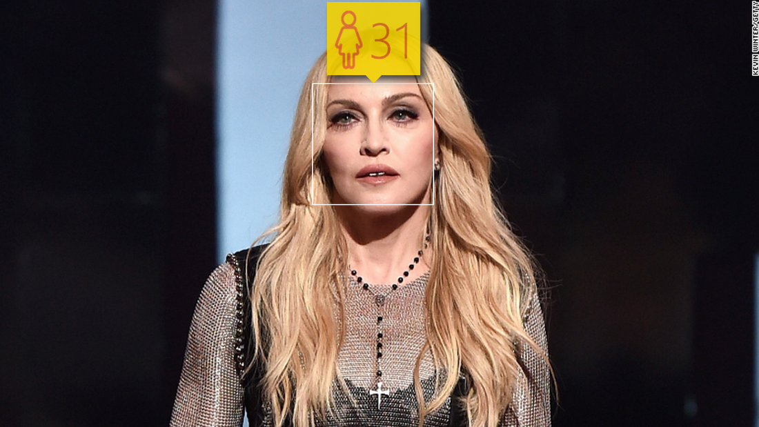 Proof that Madonna never ages: The 56-year-old singer fooled the website, which thinks she's just 31.