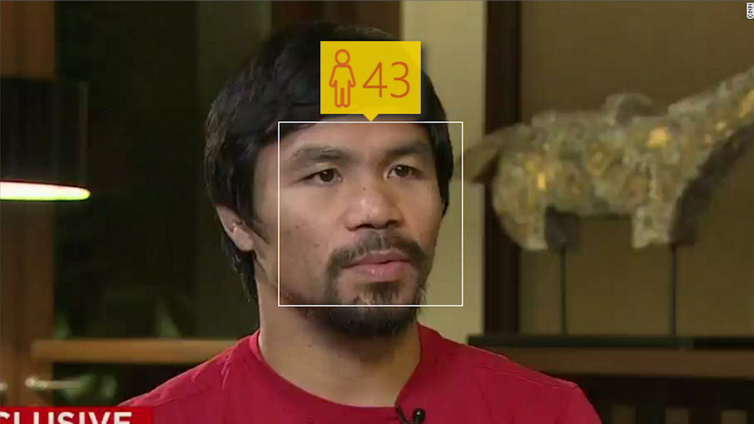 ...against rival Manny Pacquaio, who is just 36 in real life.