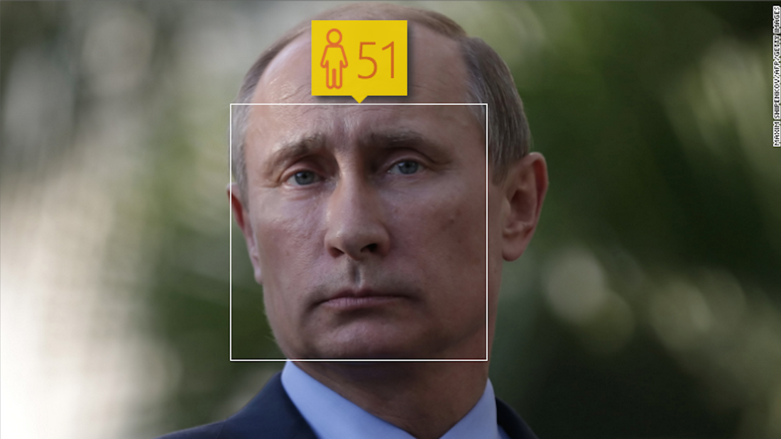 If the computer's right, then Vladimir Putin, who is actually 62, has been eating a lot of fruits and vegetables as well.