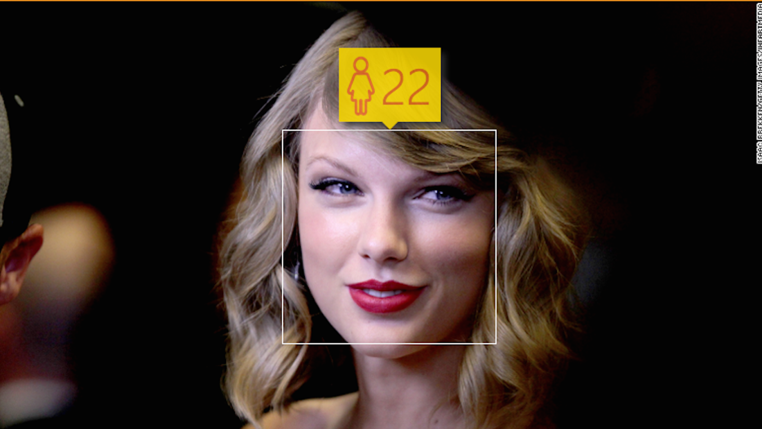 "Taylor Swift was 23 when this photo was taken — but the computer thinks she's ""feeling 22."""
