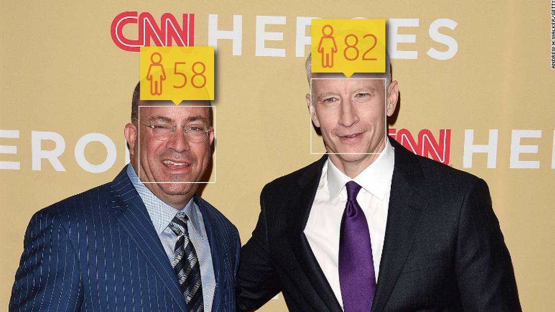 Here's CNN's 50-year-old CEO Jeff Zucker and 47-year-old anchor Anderson Cooper, presented without comment. Microsoft, can you explain this one?