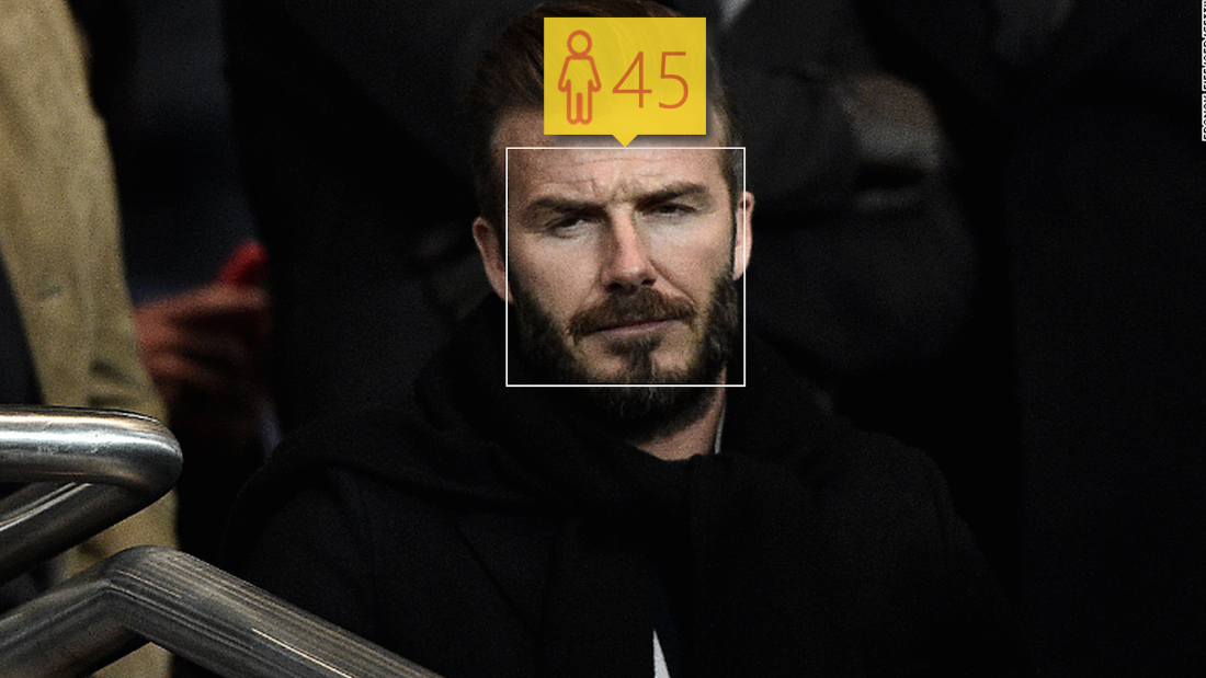 Star footballer David Beckham is turning 40 on Friday, but Microsoft says he looks a bit more like 45. To be fair, we caught him at a tense moment.