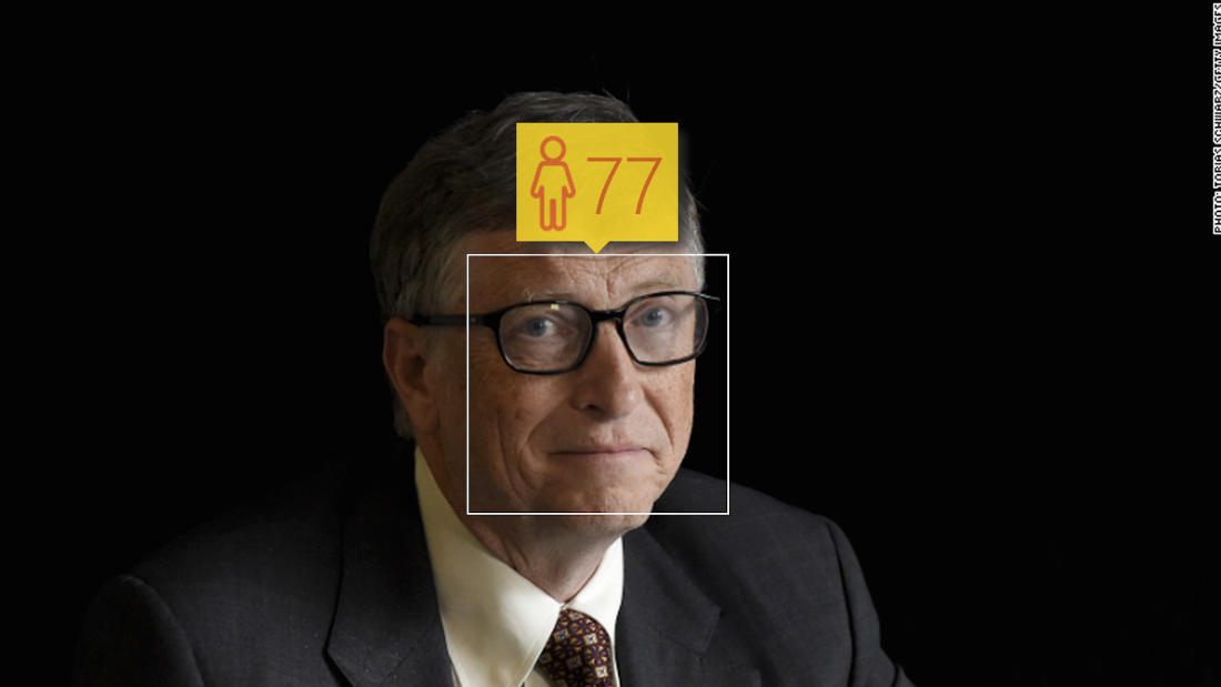 Microsoft founder Bill Gates is 59, but his company's face-detection software begs to differ.