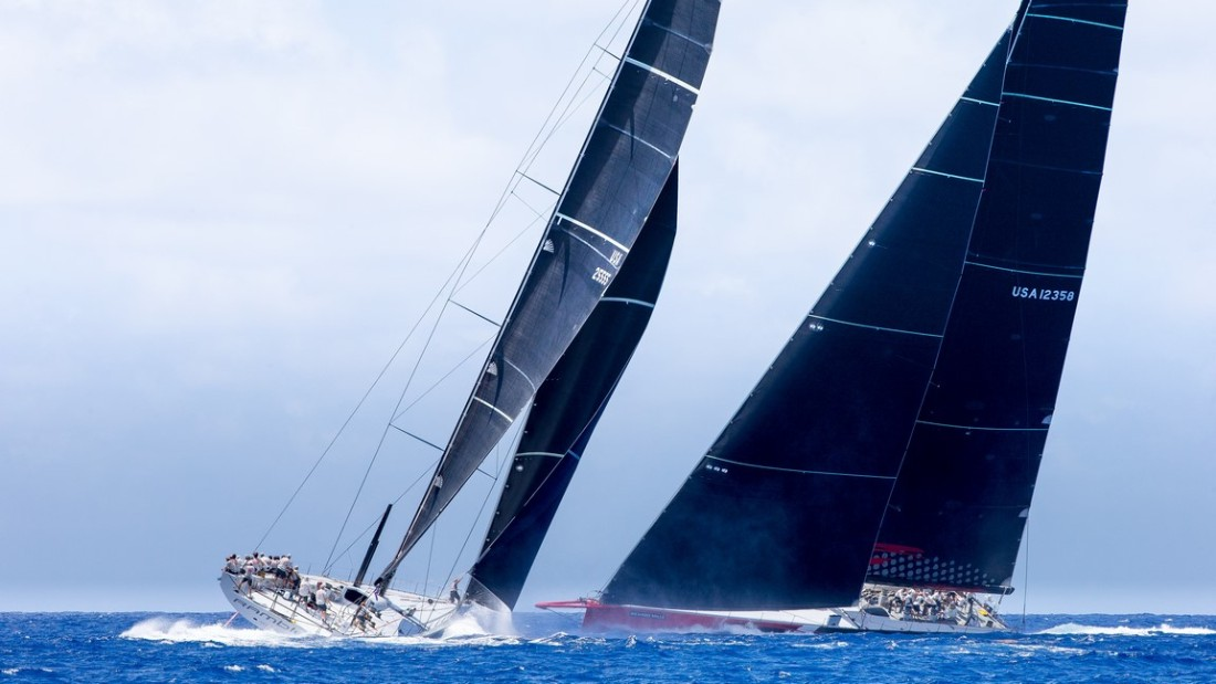 The yachting world's two newest, sleekest and most exciting vessels -- Comanche and Rambler 88 -- competed against each other for the first time in the breathtaking setting of the Les Voiles de St. Barth regatta in April.