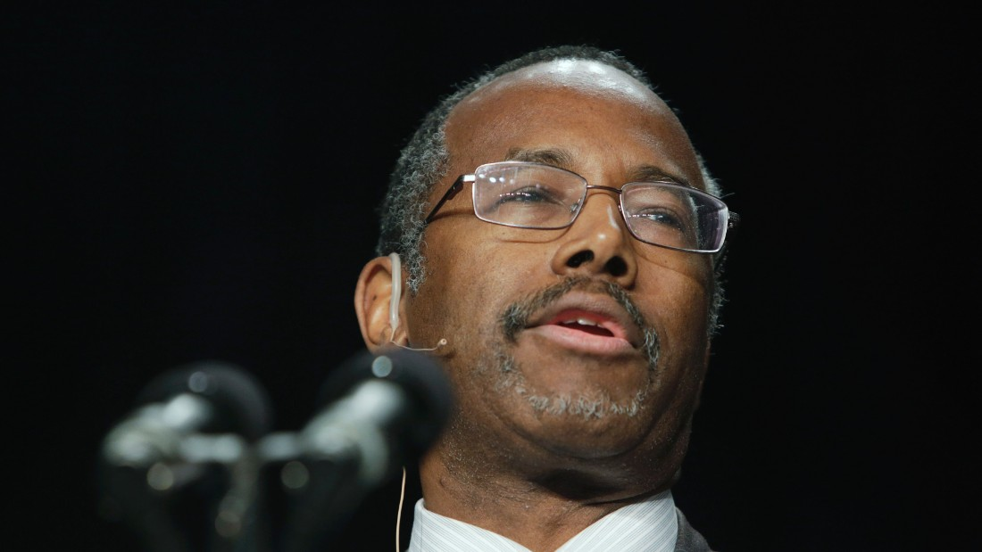 Carson speaks during the National Prayer Breakfast at the Washington Hilton on February 7, 2013, in Washington.