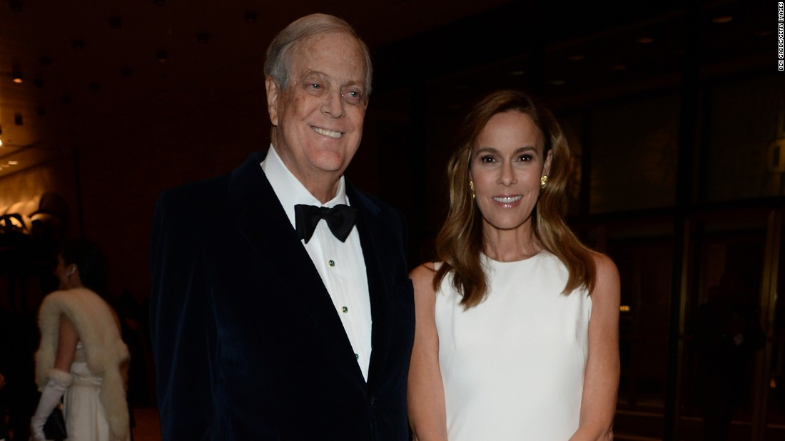 David H. Koch is half of the Koch brother duo. He is pictured above with Julia Koch, attending The School of American Ballet 2015 Winter Ball at David H. Koch Theater at Lincoln Center on March 9, 2015 in New York City.