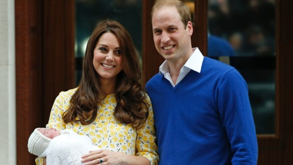 William and Catherine are photographed leaving the hospital after Charlotte