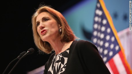 Former business executive Carly Fiorina speaks to guests gathered at the Point of Grace Church for the Iowa Faith and Freedom Coalition 2015 Spring Kickoff on April 25, 2015 in Waukee, Iowa.