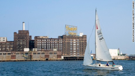 The old Domino Sugar factory on the Baltimore harbor. Men like Walter Boyd raised families working there.