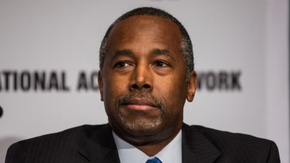 Ben Carson attends the National Action Network (NAN) national convention at the Sheraton New York Times Square Hotel on April 8, 2015, in New York City.