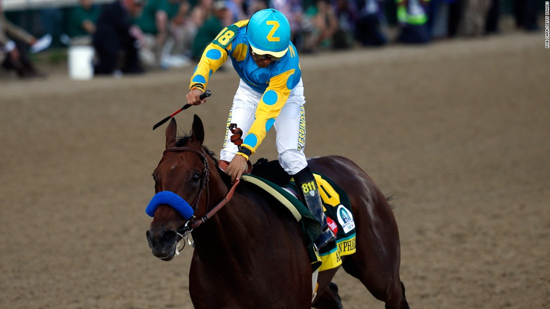 The Mexican also triumphed last year on California Chrome and in 2002 riding War Emblem.