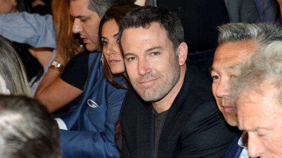 Actor and director Ben Affleck poses ringside before the big fight in Las Vegas at the MGM Grand Garden Arena.
