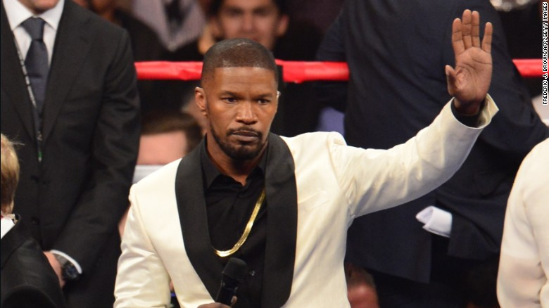 Did you hear Jamie Foxx sing national anthem?
