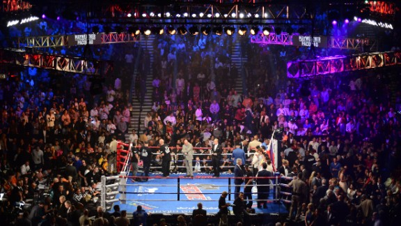 Floyd Mayweather took on Manny Pacquiao in Las Vegas.