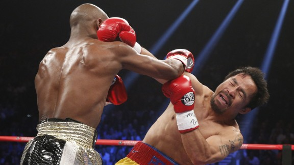 Floyd Mayweather is now 48-0 with 26 knockouts. Pacquiao is 57-6-2 with 38 knockouts.