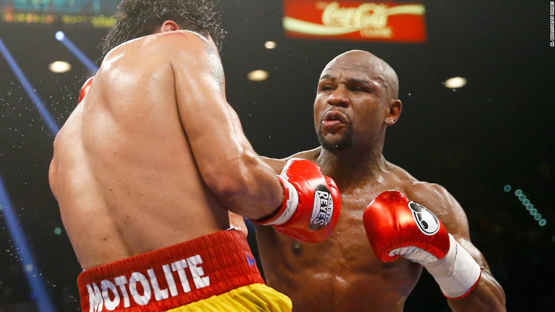 "Floyd Mayweather, nicknamed ""Money,"" has raked in $300 million (£194 million) in the past 12 months to top the Forbes list."