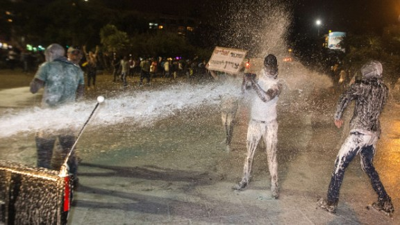 Protests in 2015 were met with water cannons.