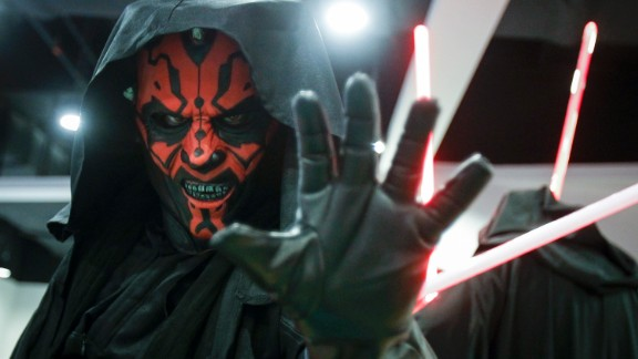 """A """"Star Wars"""" fan dressed as Darth Maul poses for a photograph at a """"Star Wars Day"""" gathering in a mall downtown Kuala Lumpur, Malaysia, on Saturday, May 2."""