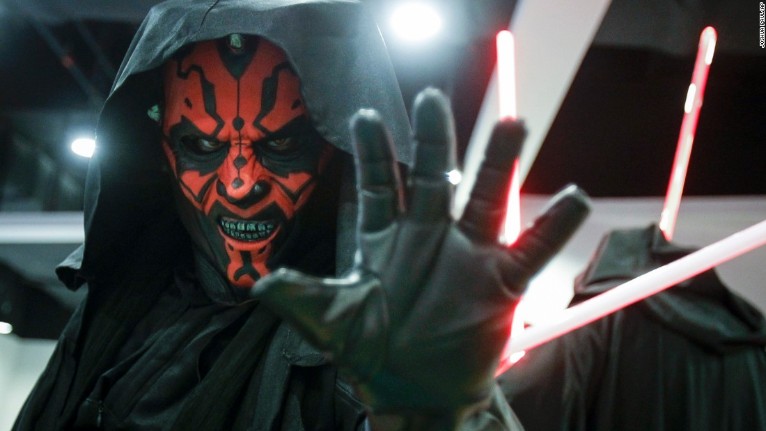 "A ""Star Wars"" fan dressed as Darth Maul poses for a photograph at a ""Star Wars Day"" gathering in a mall downtown Kuala Lumpur, Malaysia, on Saturday, May 2."