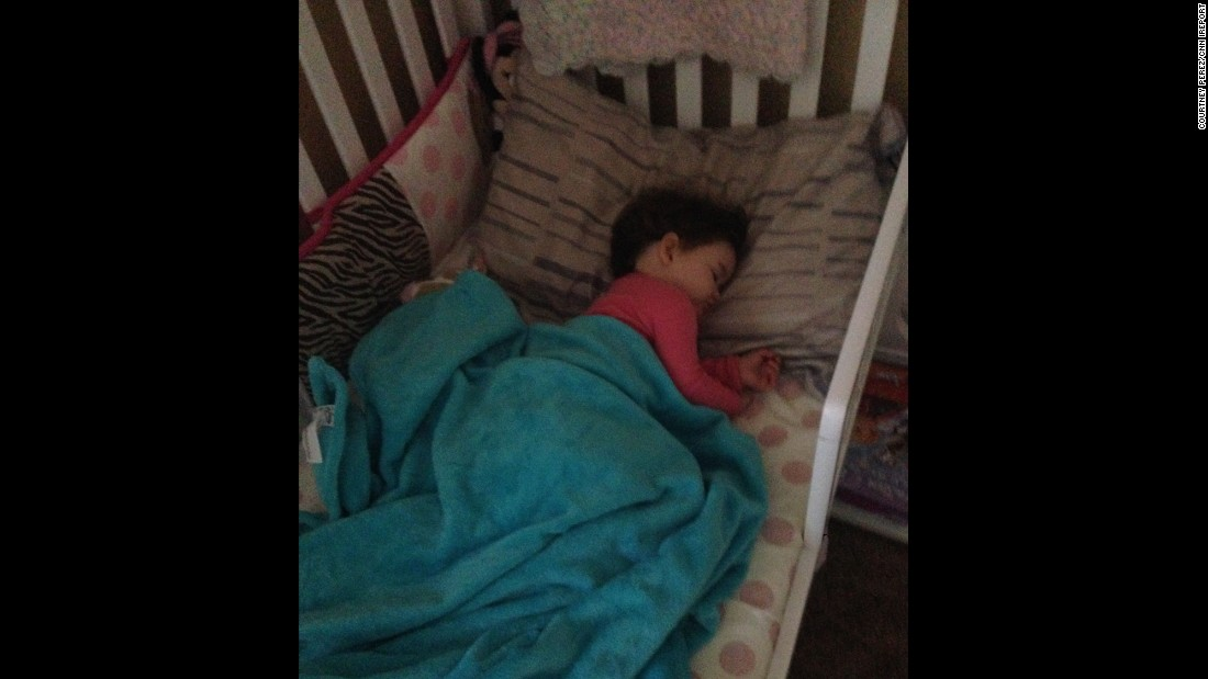 """After a year and a half I finally got my little girl to sleep in her own bed."" -- Courtney Perez, Paso Robles, California"
