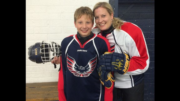 """""""At the end of the minor hockey season, when the traditional parent/player game rolls around, I"""