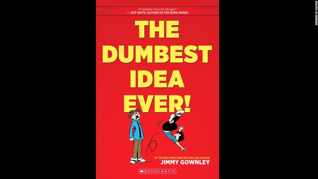 """The Dumbest Idea Ever!"" by Jimmy Gownley, a graphic novel, was chosen as the fifth grade to sixth grade book of the year."