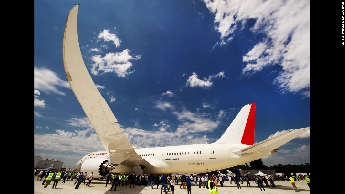 A new Boeing 787 Dreamliner built for Air India rolled off the production line on April 27, 2012, at Boeing's new plant in North Charleston, South Carolina. The ceremony marked Boeing's first South Carolina-made Dreamliner aircraft.