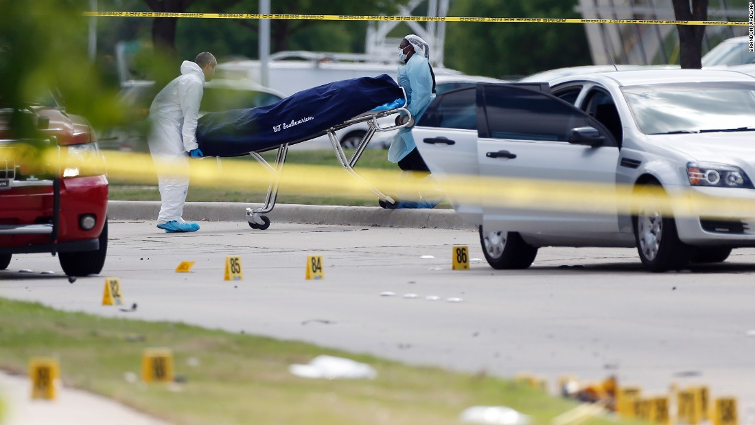 Texas shooting: Officer with pistol stops rifle-wielding