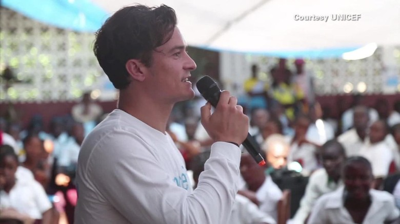 Orlando Bloom visits Liberia, ground zero for Ebola